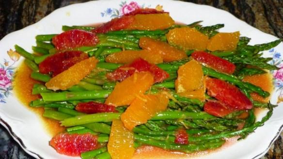 Warm Asparagus and Citrus Salad