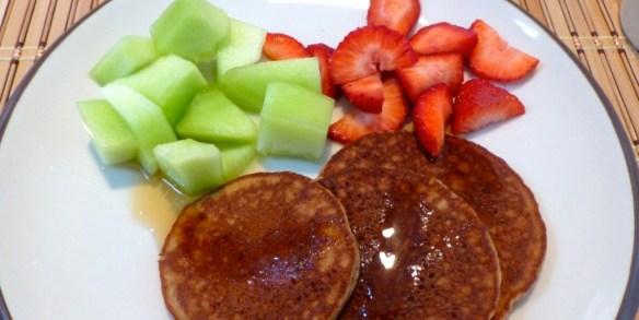 Paleo Pancakes with Fruit