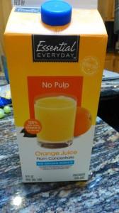 Orange Juice (no pulp)
