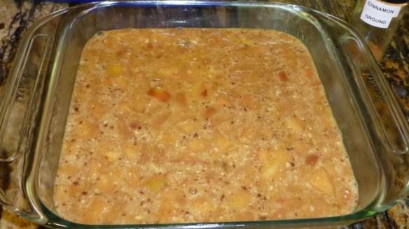 Unbaked Apple Cinnamon Cake