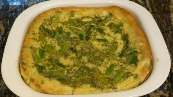 Asparagus, Dill, Onion and Egg Casserole