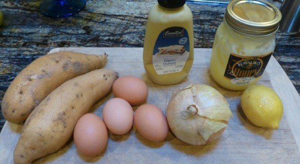 Egg and Potato Salad Ingredients