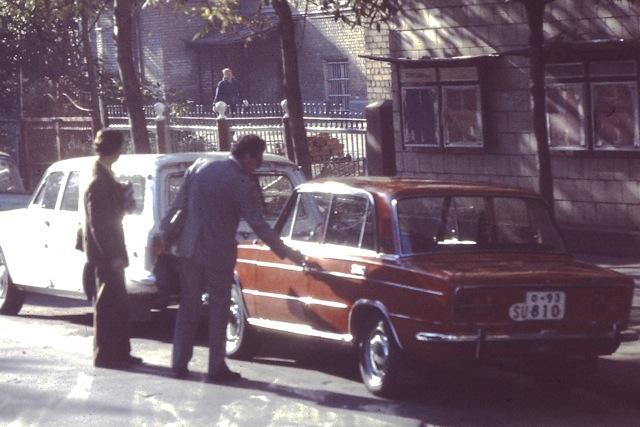 Moscow, Russia, Autos, Circa 1970