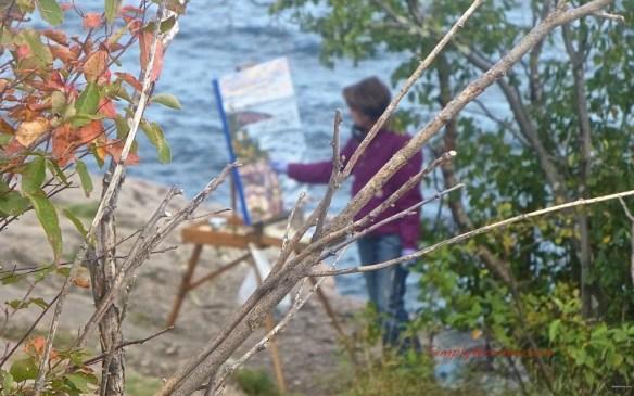 Artist at Palisade Head