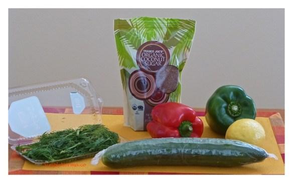 Ingredients for Cucumber Salad