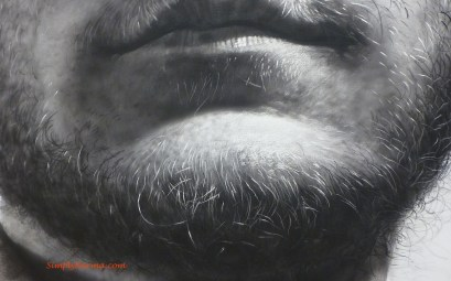 Frank by Chuck Close, 1940 (close up)