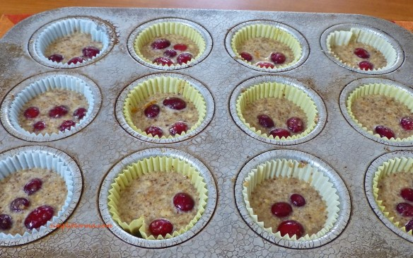 Unbaked Cranberry Orange Muffins