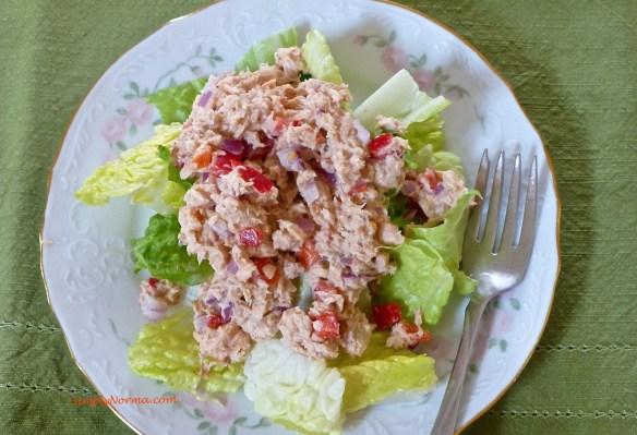 Salmon Paleo Spring Salad