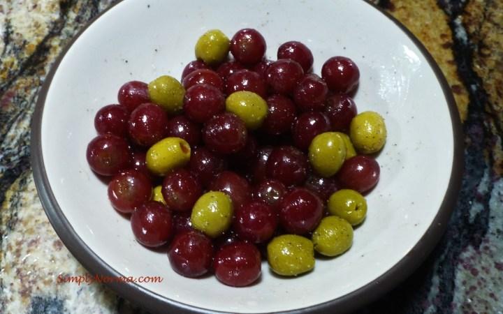 Prepare Grape & Olive Mixture