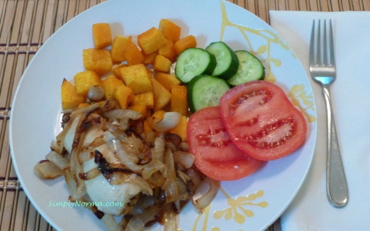 Prune and Goat Cheese Stuffed Chicken with Caramelized Onions