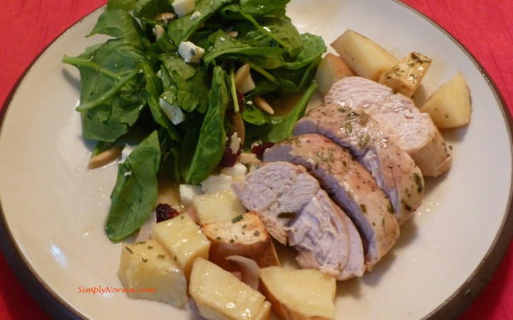 Roasted Turkey with Sweet Potatoes and Tarragon