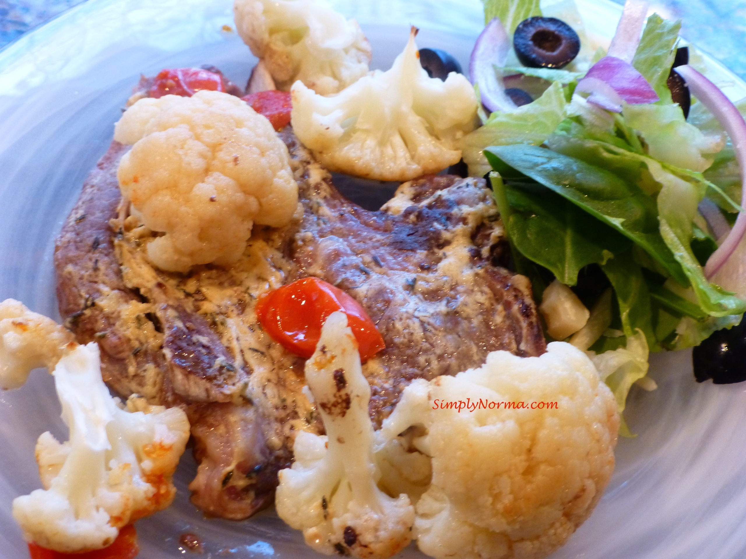Paleo Baked Lamb with Cauliflower