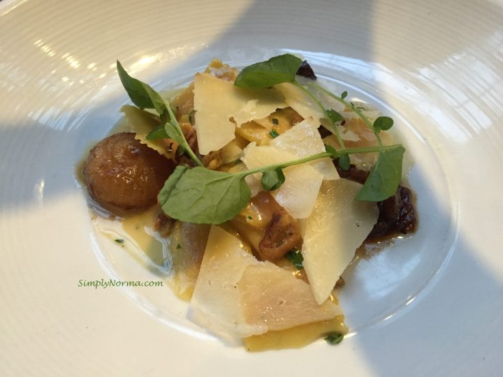 Sweet Potato Agnolotti, Spoon and Stable