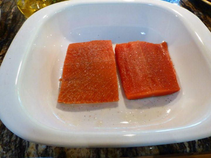 Two Salmon Fillets