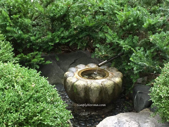 Japanese Garden Water Fountain, Minnesota Landscape Arboretum