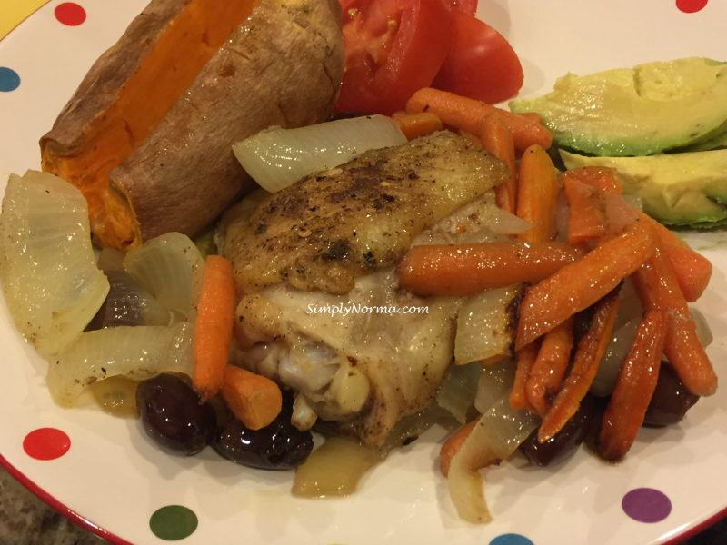 Paleo Baked Chicken Thighs With Carrots and Olives