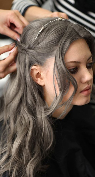 Color Gray Henna Hair Color And Conditioner Light Brown