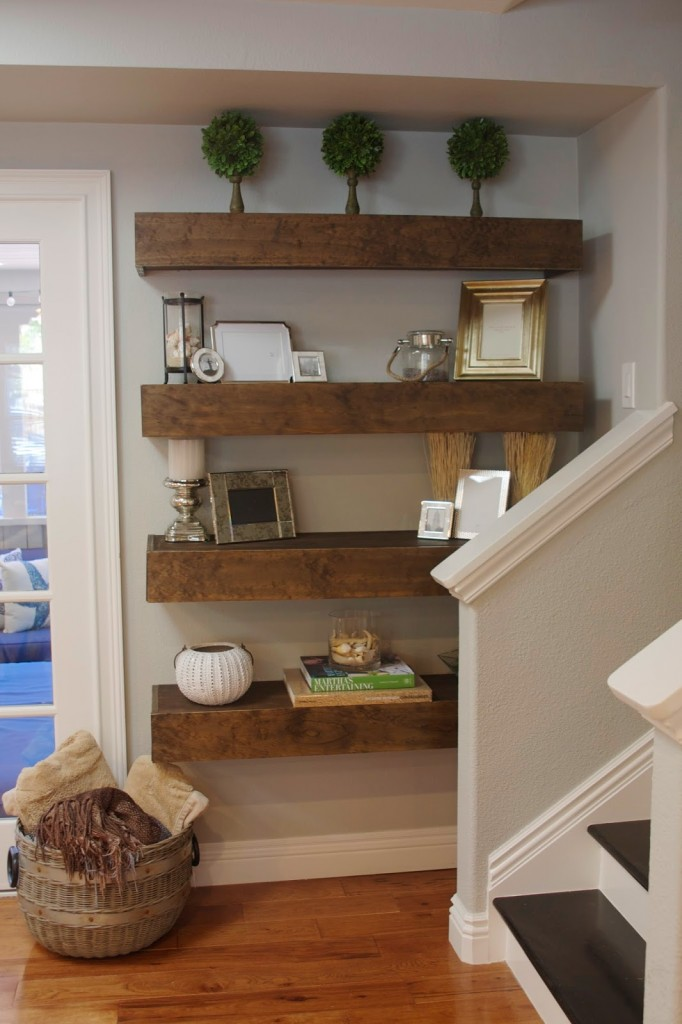 Simple DIY: Floating Shelves Tutorial + Decor Ideas ... on Pinterest Wall Decor  id=37206