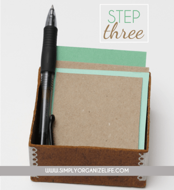 Organize-Your-Life-With-Scrap-Paper-Step-3-Simply-Organize-Life