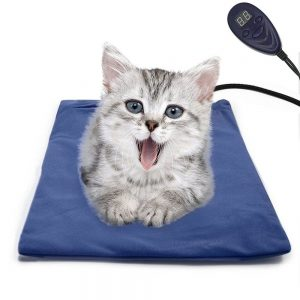 The Flymei electric pet heating pad provides warmth, comfort and security and keeps your pets happy and out of your bed.