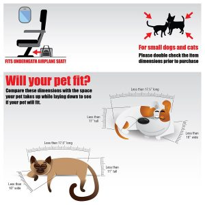 Your pet will stay calm and comfortable in most situations with the Pawfect Pets Soft-sided Travel carrier under your seat or on your lap.