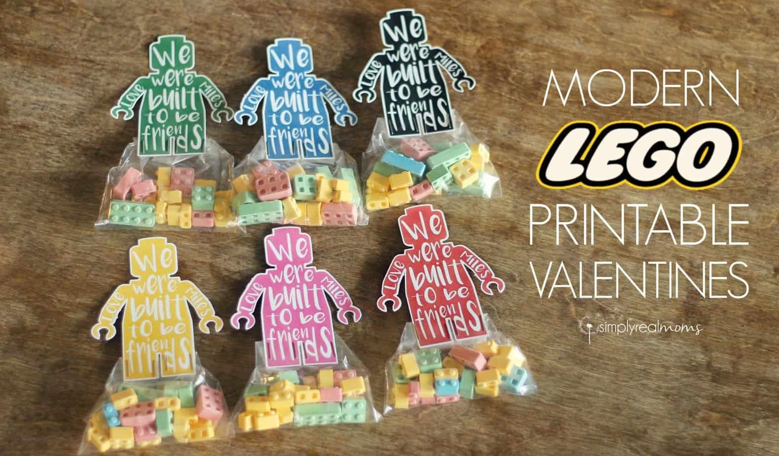 Modern Lego Printable Valentines