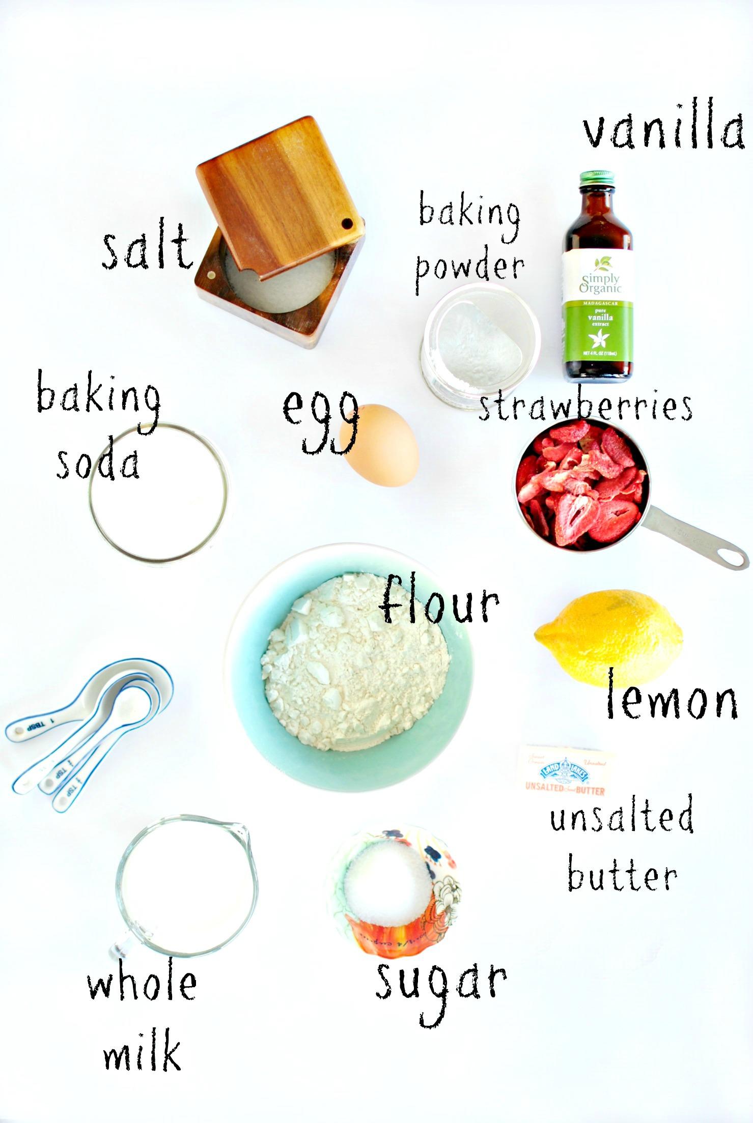 Simply Scratch Strawberry Lemon Pancake Muffins