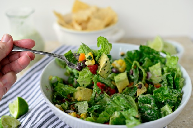 Image result for salad with cilantro and cilantro dressing