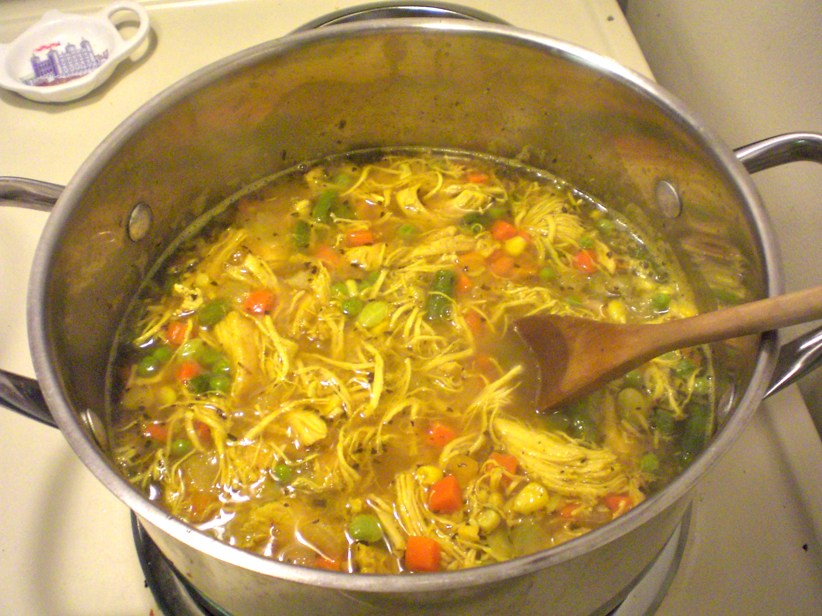 Chicken soup simply scrumptious by sarah for How do you make chicken noodle soup