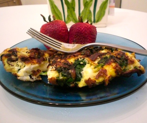 Caremelized Onion Spinach Mushroom Omelette | Simply Scrumptious By Sarah