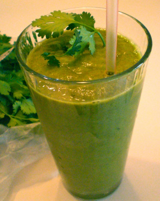 Pineapple Cilantro Protein Smoothie | Simply Scrumptious by Sarah