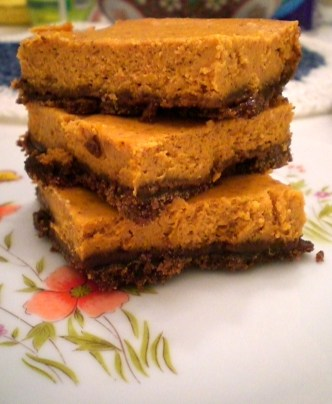 Pumpkin Cheesecake Bars | Simply Scrumptious by Sarah