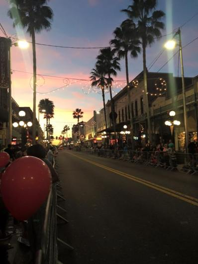 This is what a Christmas Parade looks like in Tampa... notice the palm trees! It was 80 degrees!
