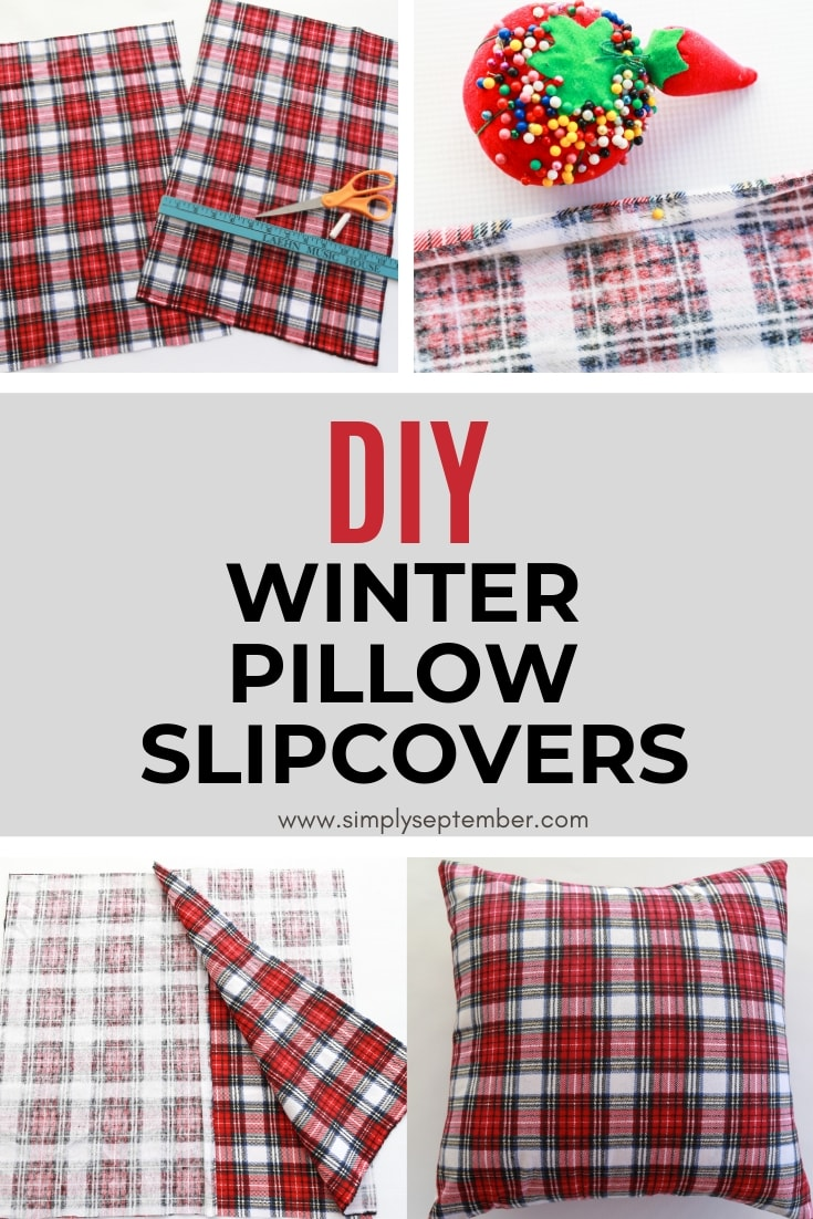 how to make winter holiday pillow