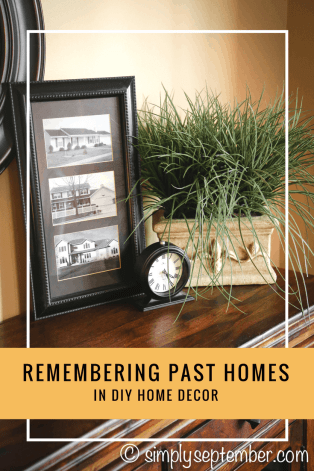 remembering past homes through wall decor, remembering past homes, homes, past homes, wall decor, diy wall decor, housewarming gift, diy gift, past homes, old homes, new home gift, moving gift