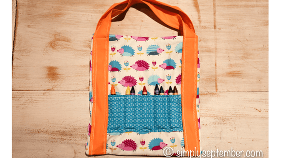 How to Make a Children\'s Coloring Bag (TUTORIAL) - Simply September