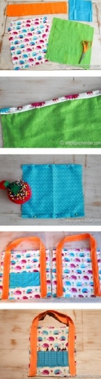how to make a children's coloring bag tutorial, tutorial, children, children's coloring, coloring, color, coloring books, coloring bag, art bag, crafting, children's sewing tutorial, children's sewing craft, sewing tutorial, tutorial, sewing tutorial, fabric, crayons