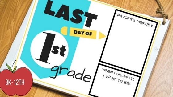 last day of school free printables, school, last day of school, 3k, 4k, 5k, 1st grade, 2nd grade, 3rd grade, 4th grade, 5th grade, 6th grade, 7th grade, 8th grade, 9th grade, 10th grade, 11th grade, 12th grade, printable, free printable, family tradition, scrapbook