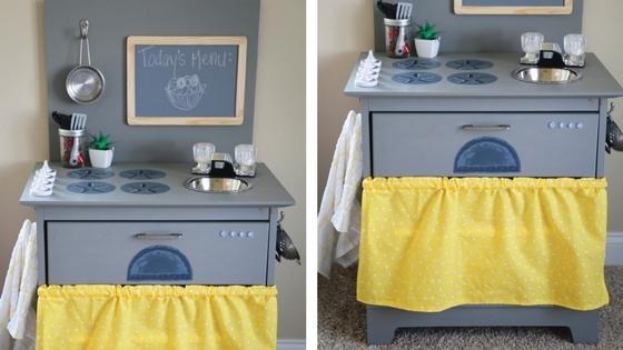 Diy Kitchen, Diy Toy Kitchen, Toy Kitchen, Furniture Remodel, Repurposing  Old Furniture