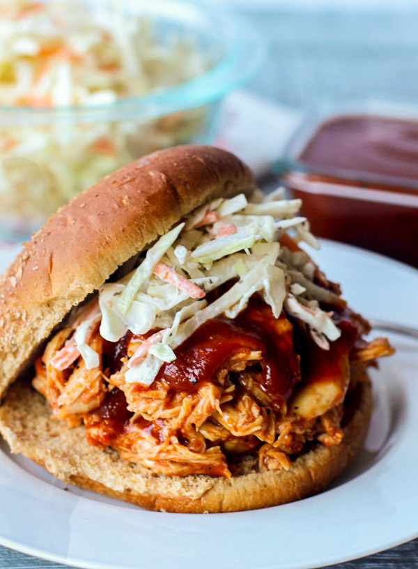 Sweet N' Tangy BBQ Pulled Chicken Sandwich