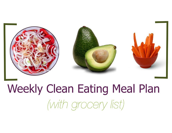 Weekly Clean Eating Meal Plan