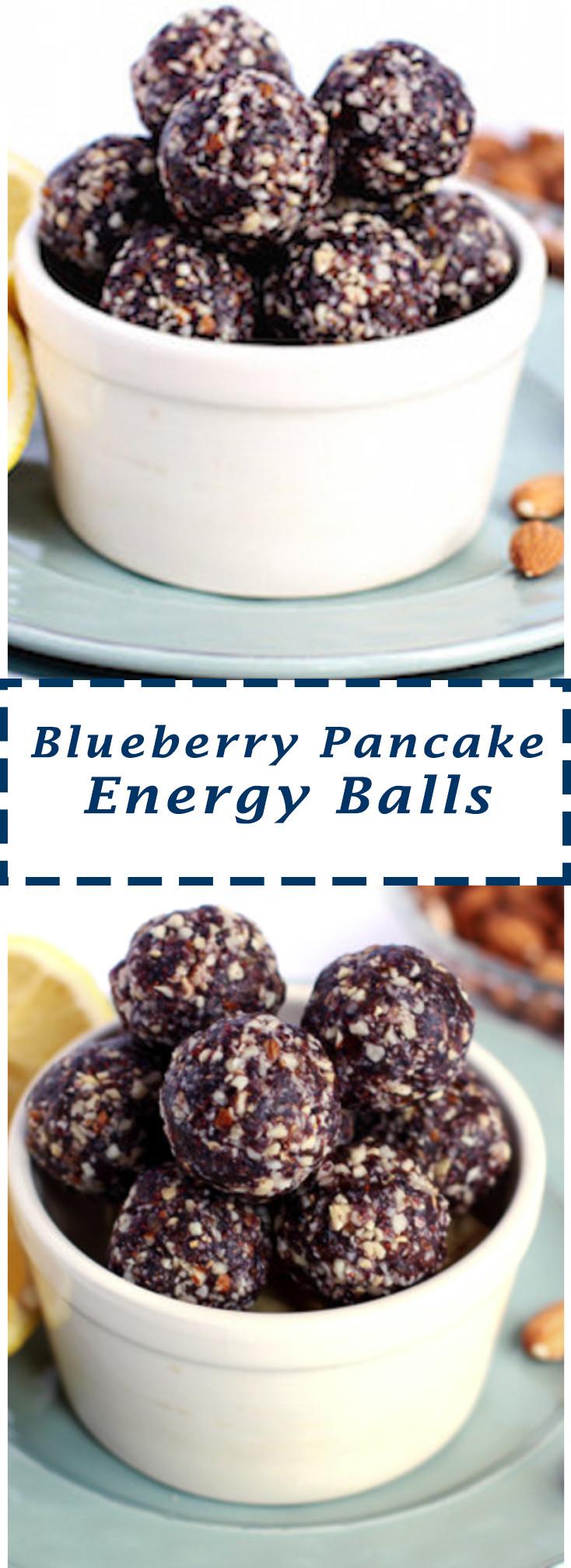 Pinterest Blueberry Pancake Energy Balls