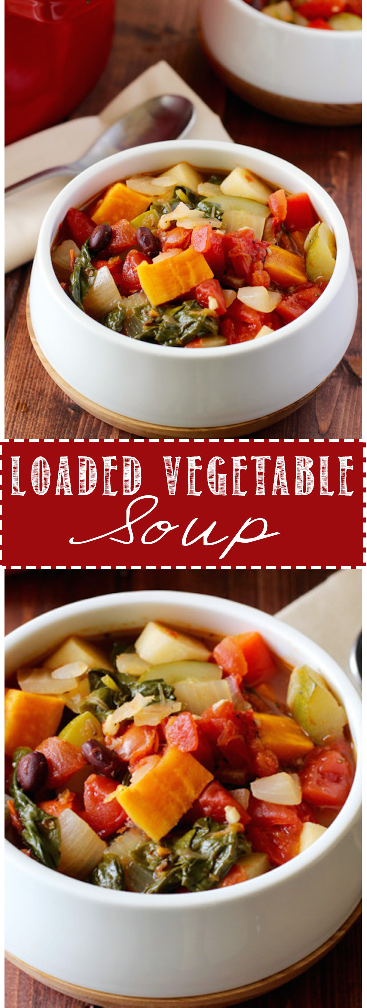 Loaded vegetable soup is simple, healthy, and delicious!!