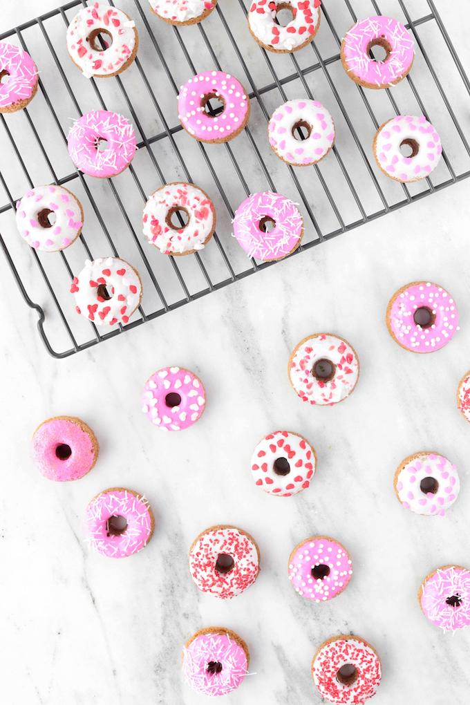 Fluffy, Baked Vanilla, Healthy (ish) Baked Donuts made in 3o minutes!