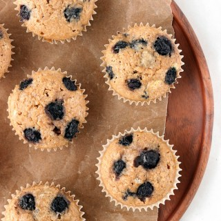 1-Bowl Whole Grain Blueberry Muffins