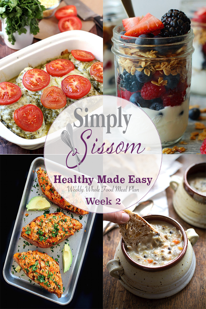 90 minutes prep + 15 min/day = Healthy Breakfast, Lunch, and Dinner for you entire family all week!