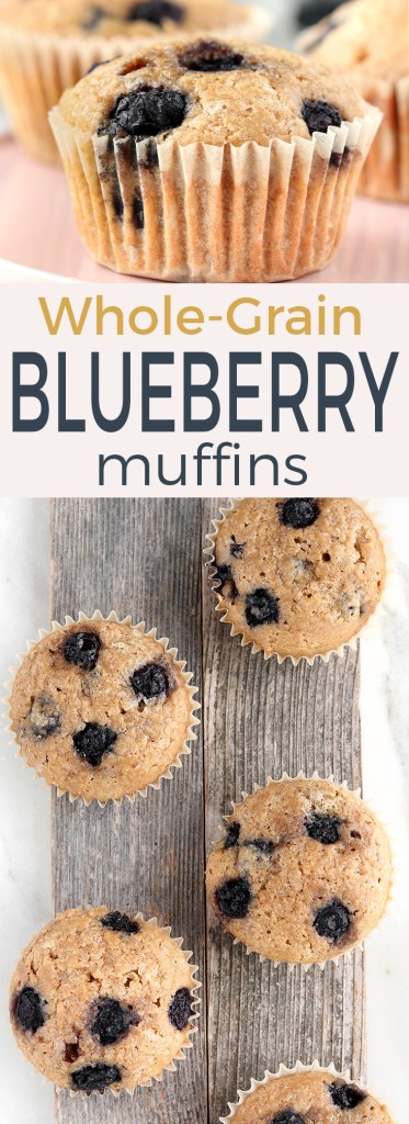One-bowl Blueberry Muffins that are whole-grain, naturally sweetened, healthy and seriously delicious.