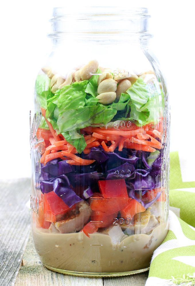 Thai Chopped Chicken Salad (Panera Copycat). #Wholefood #Cleaneating #dairyfree #glutenfree