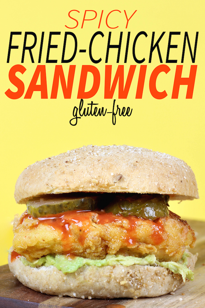 This Gluten-Free Spicy Fried Chicken Sandwich requires only 30 minutes from start to finish and is full of flavor. Swapping all purpose white flour for chickpea powder makes this recipe gluten-free and adds a boost of protein.