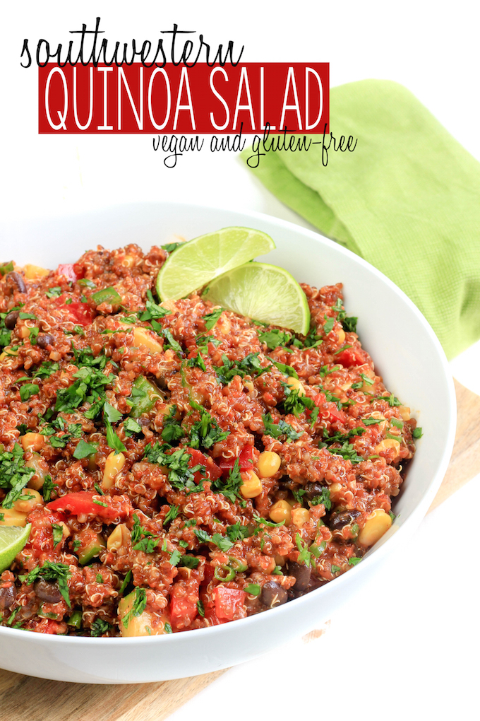 Southwestern Quinoa Salad with Roasted Red Pepper Dressing